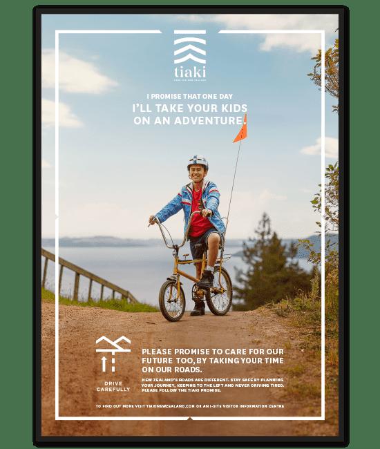 TNZ Tiaki bike poster