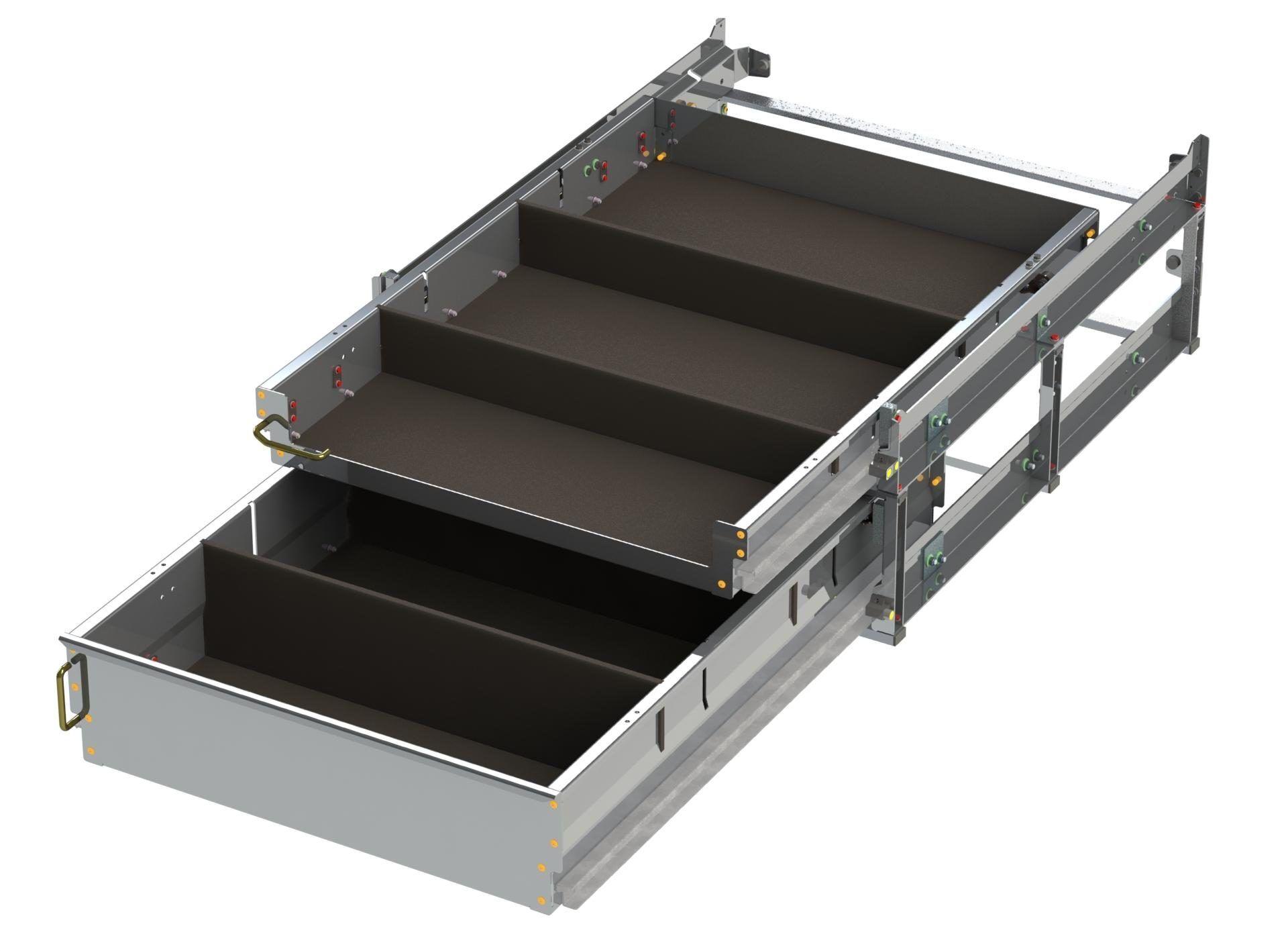 Double Drawer Unit w x D x H H Open