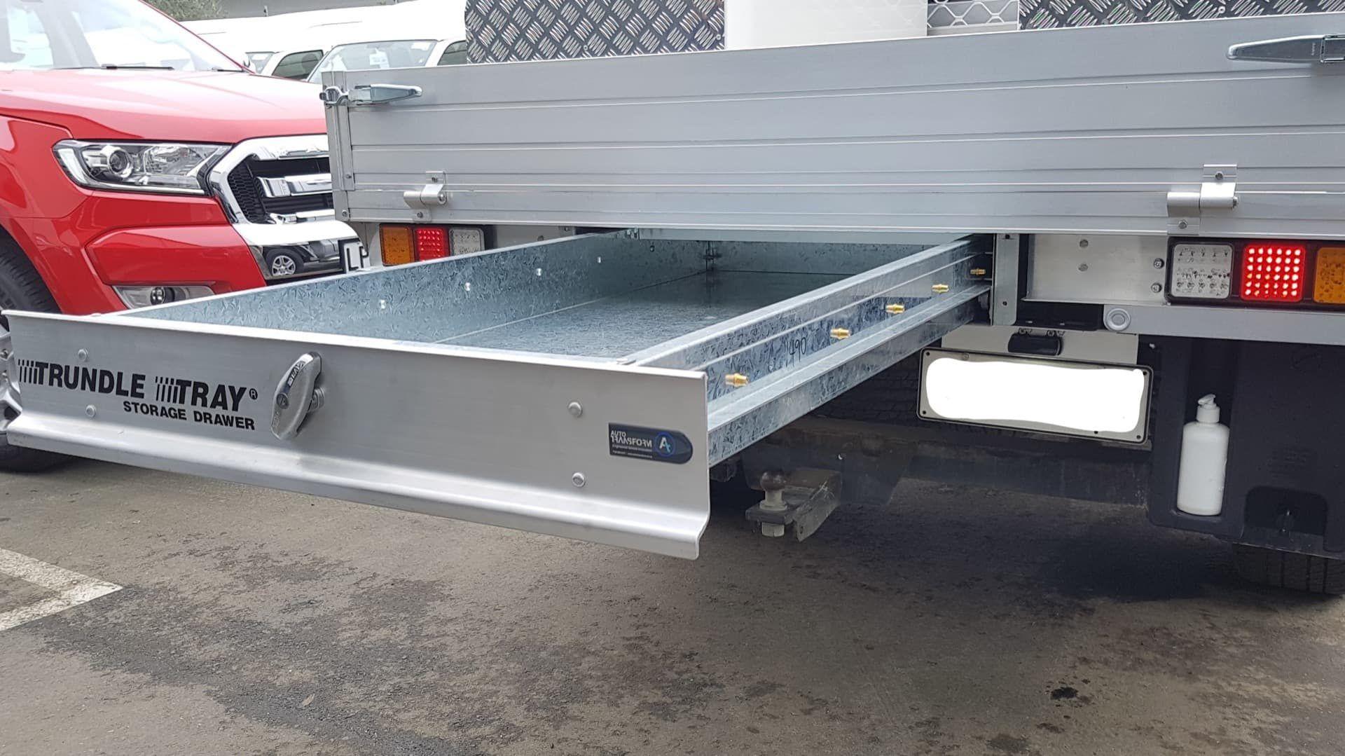 Underfloor aluminium drawer for ute