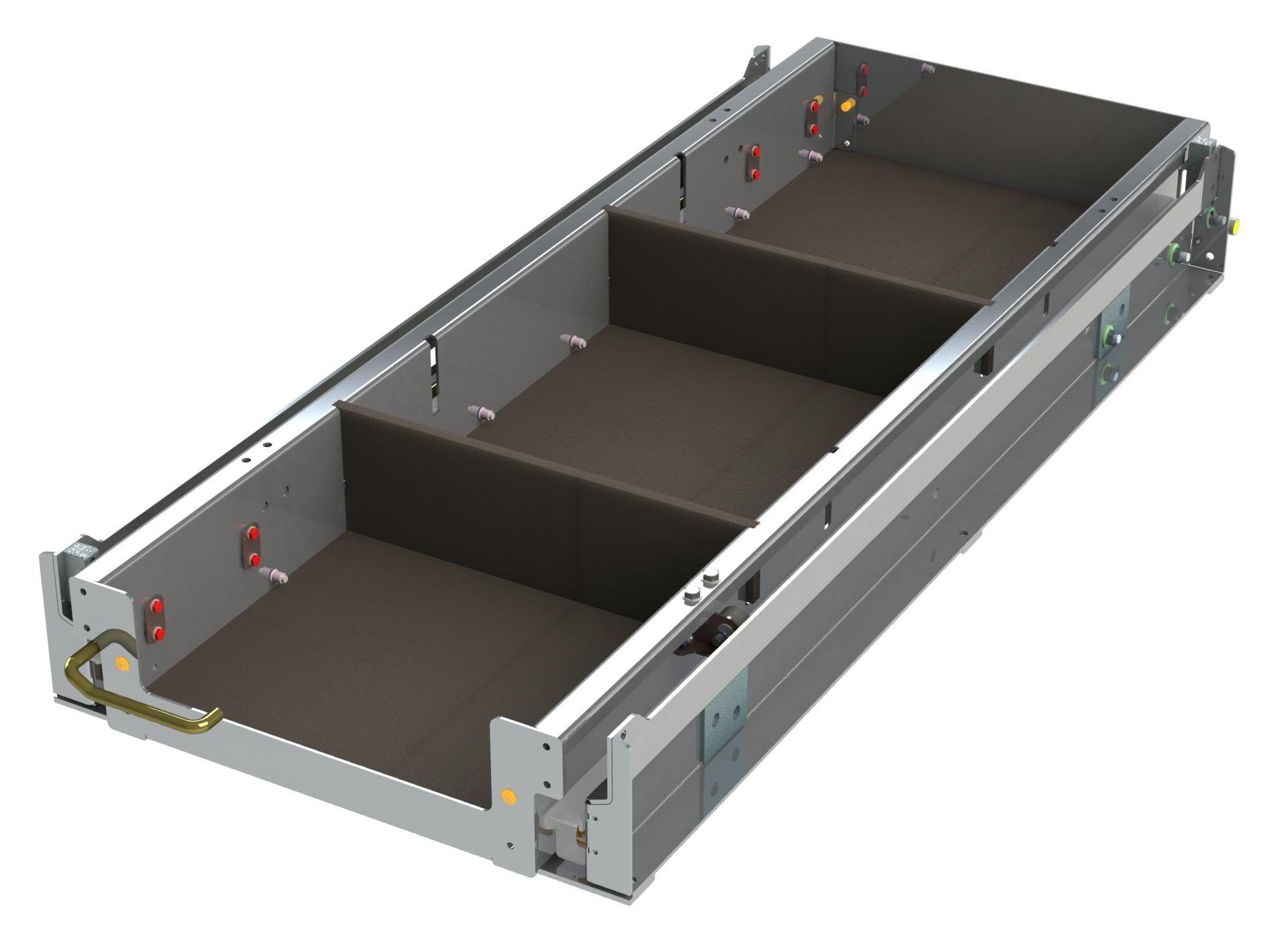 Sliding Tray Unit w x D x H Closed
