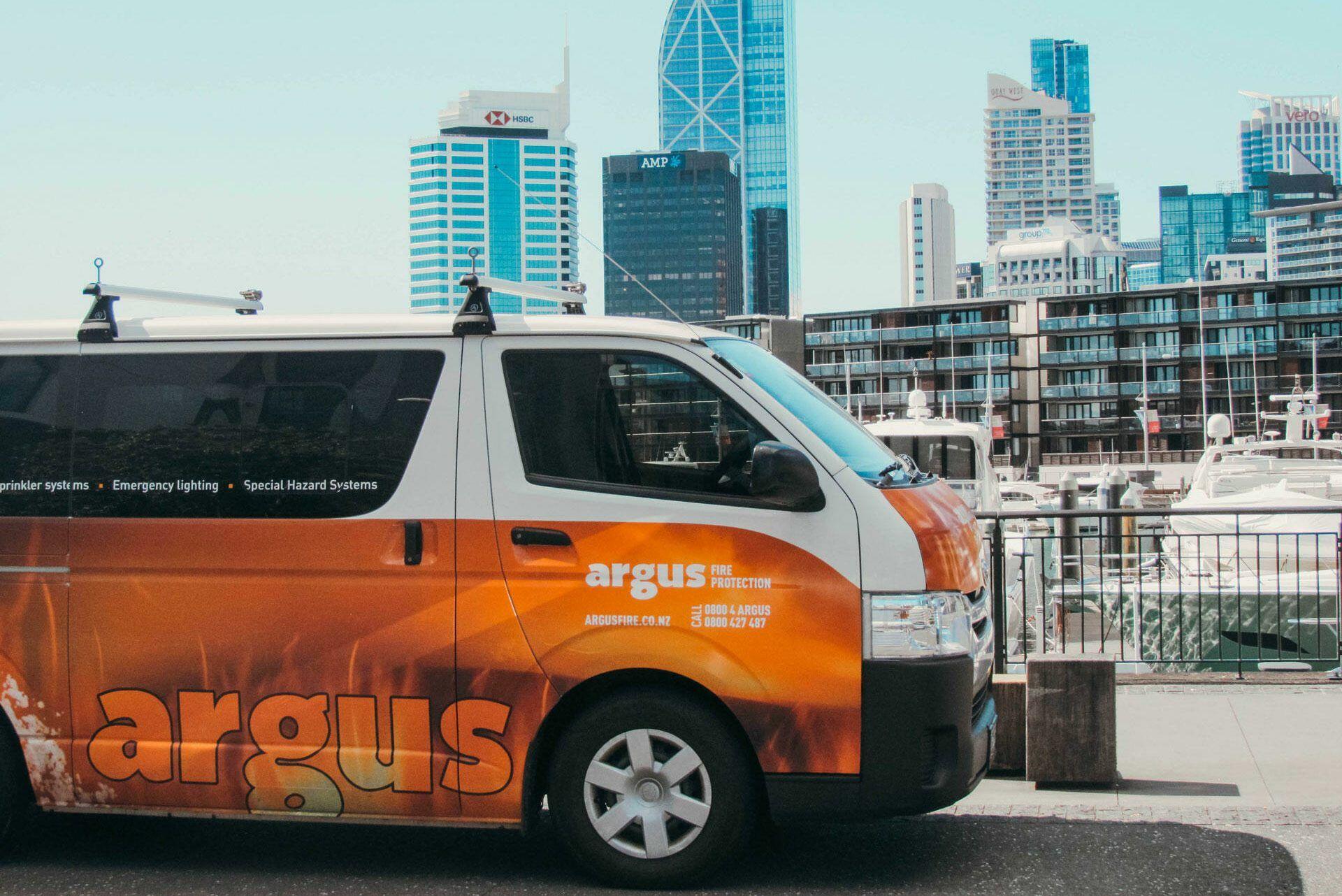 argus fire protection fleet branding