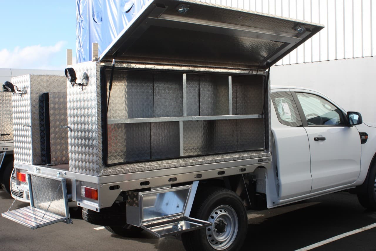 Commercial aluminium service body ute fitout