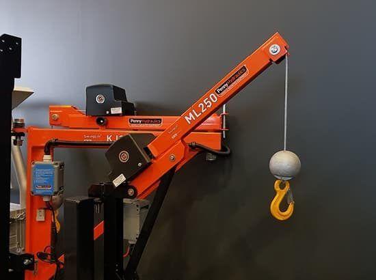 Crane attachment for van