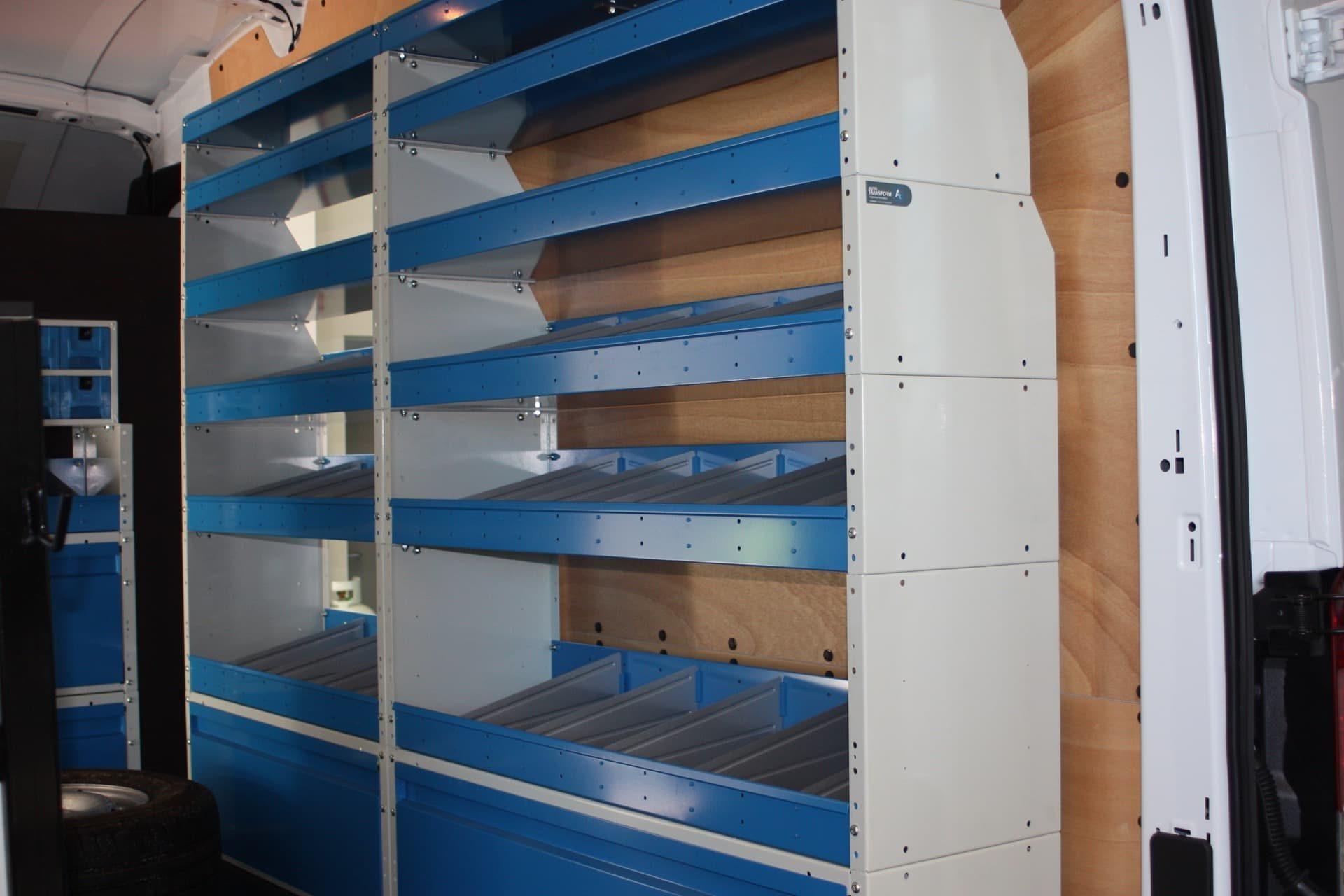 Commercial van shelving storage