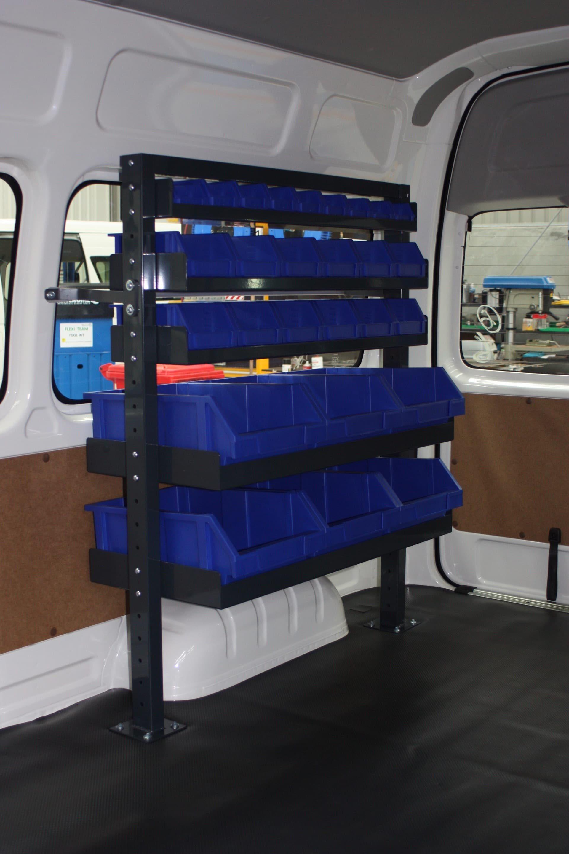 Custom drawer system for van