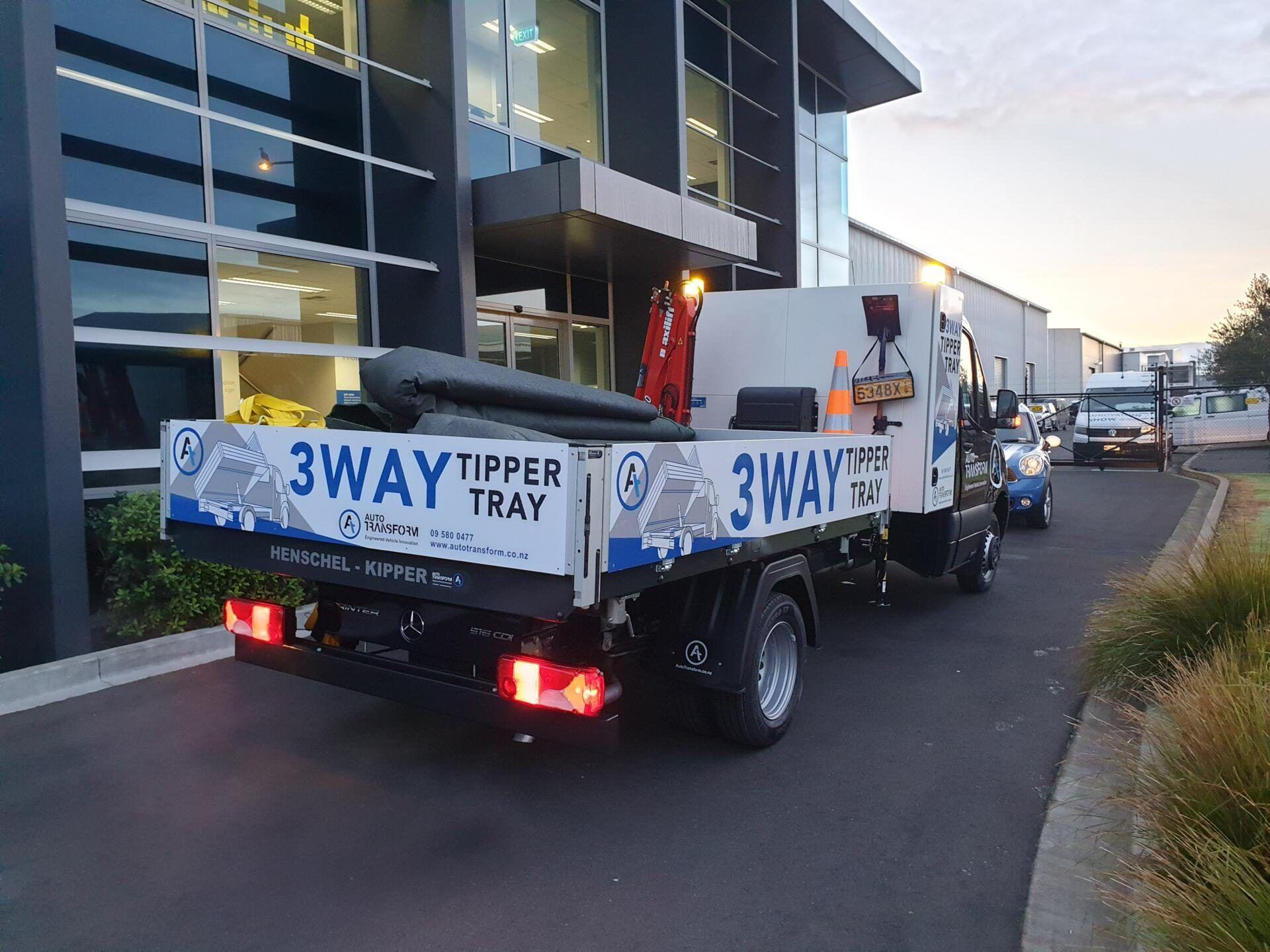 fleet branding vehicle signage for auto transform way tipper