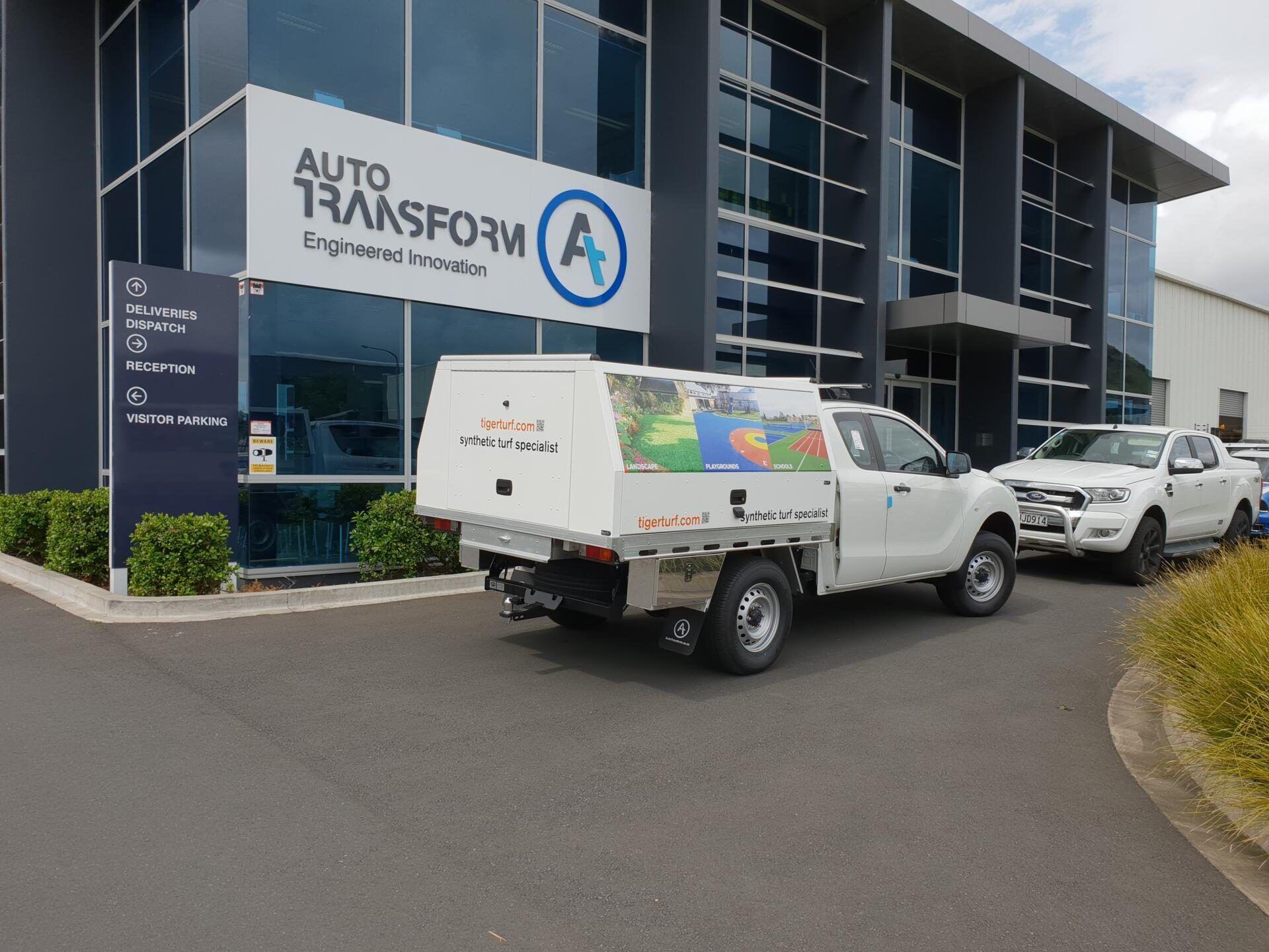 fleet branding vehicle signage for tigerturf