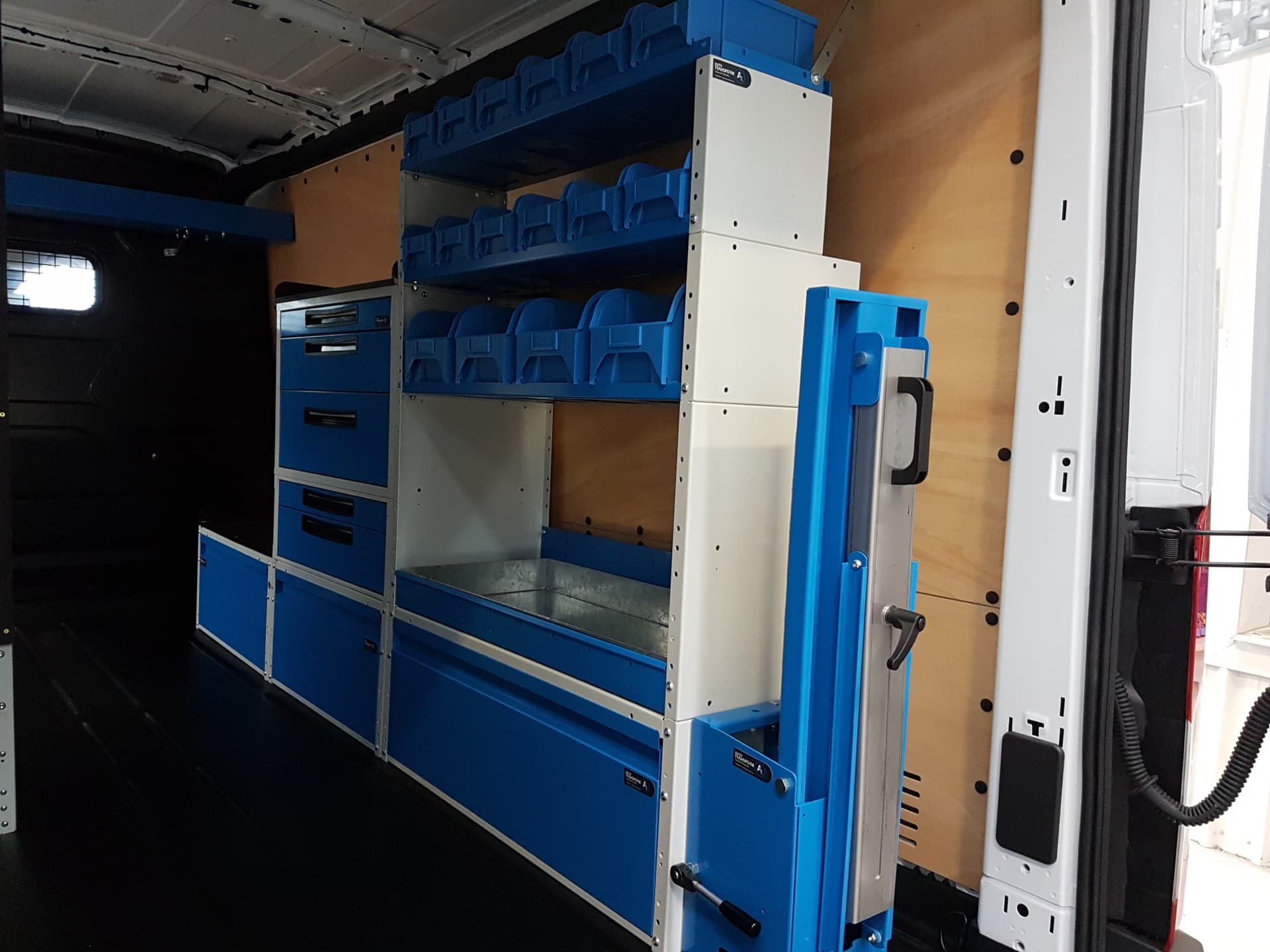 Modular storage and tool solution for industrial vehicles