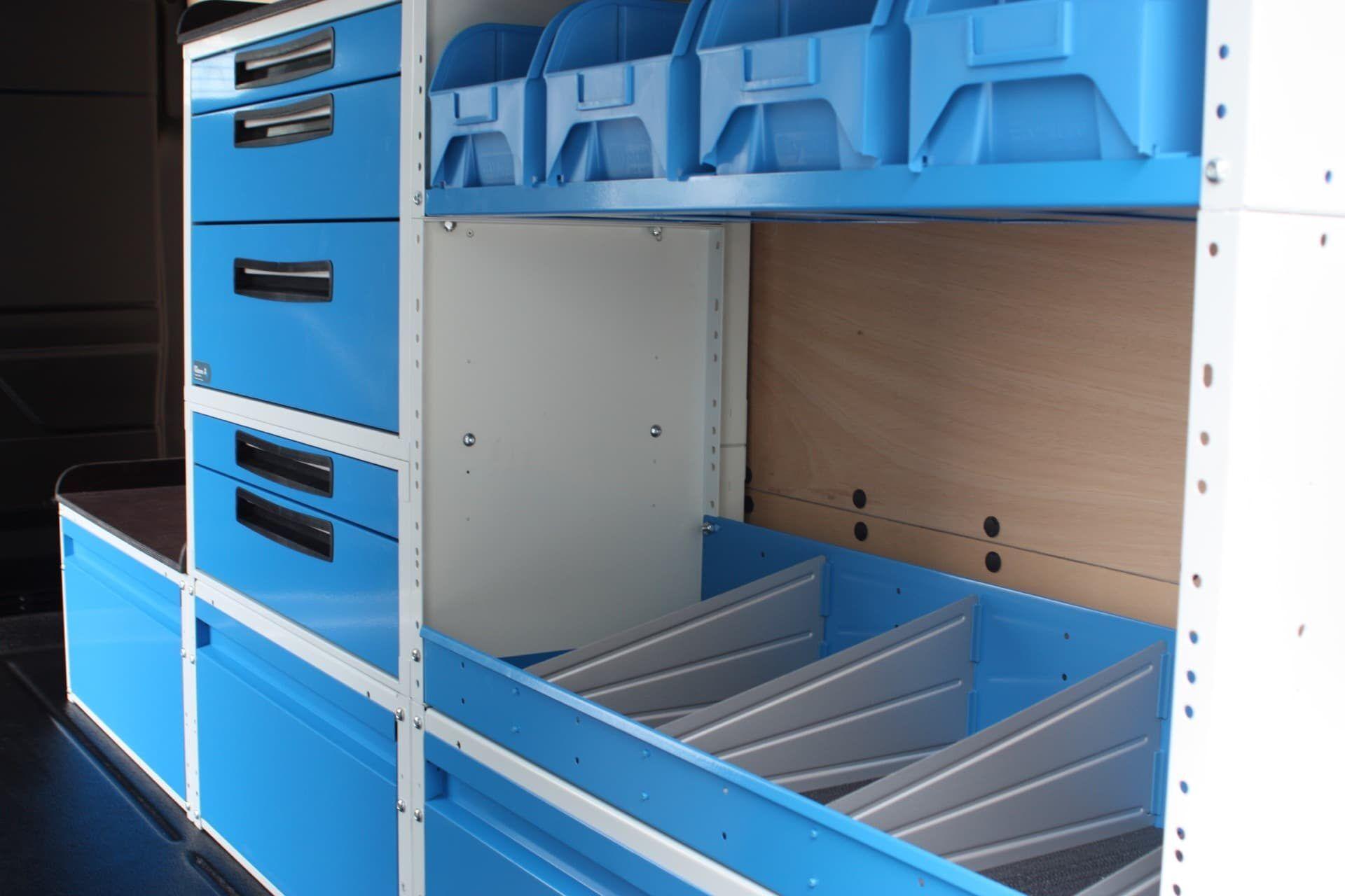 Modular storage system for van