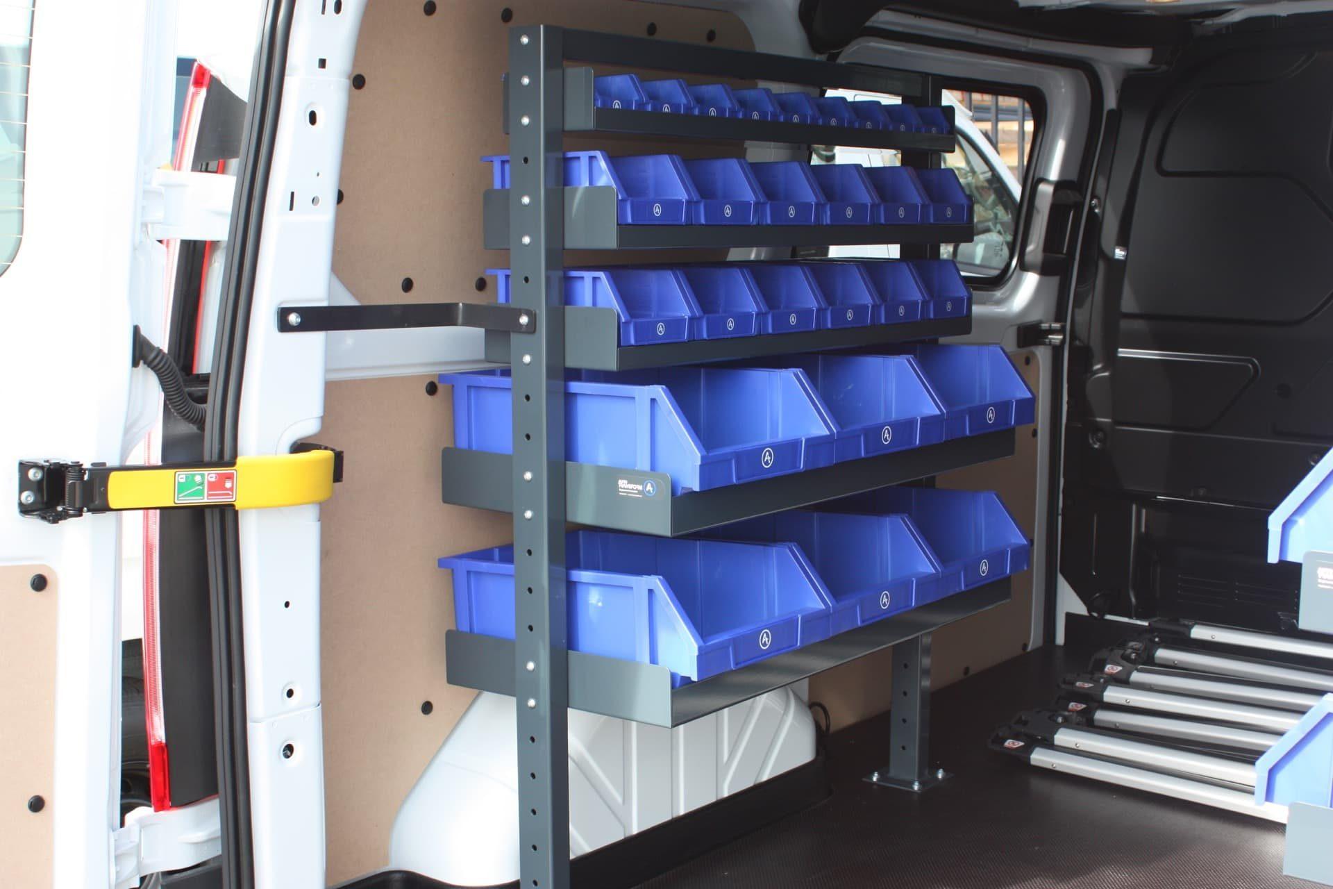 Tool drawer rack in van