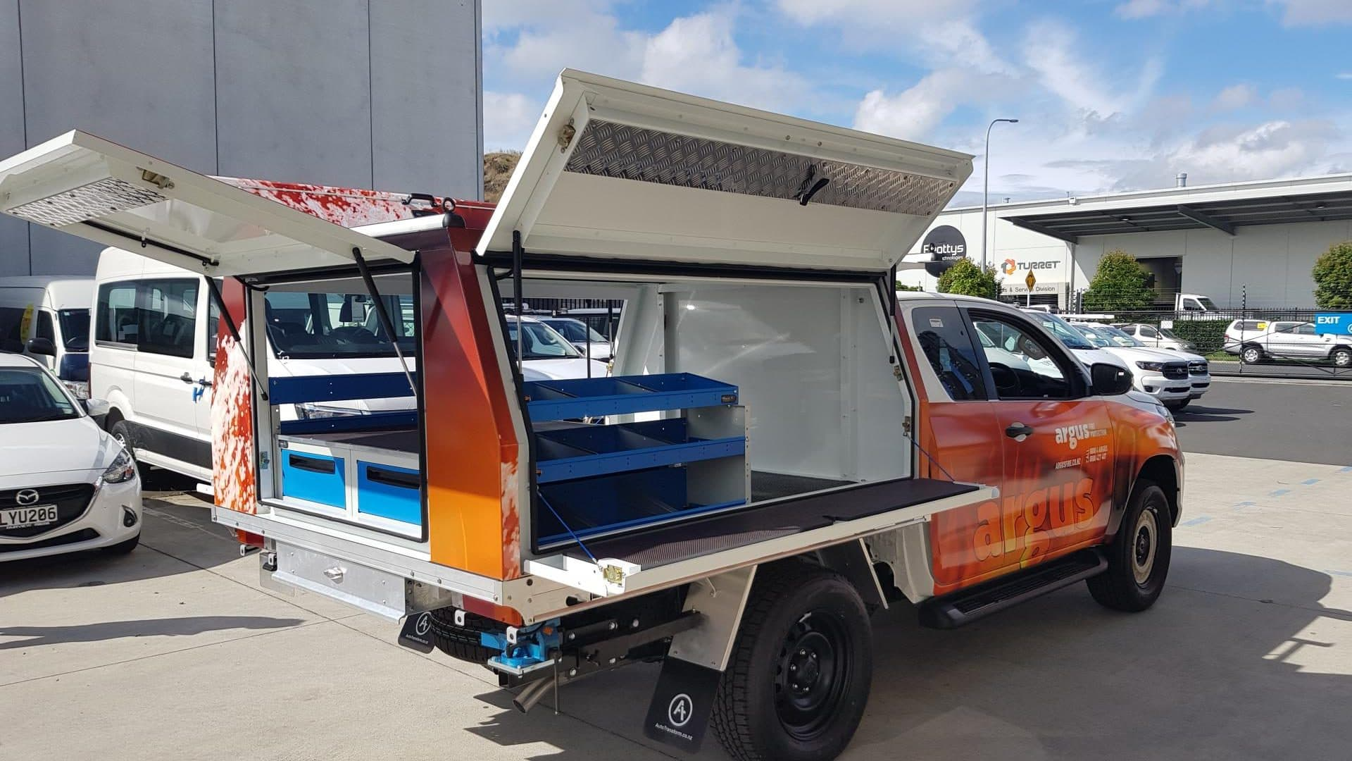 Ute fitout for fire services