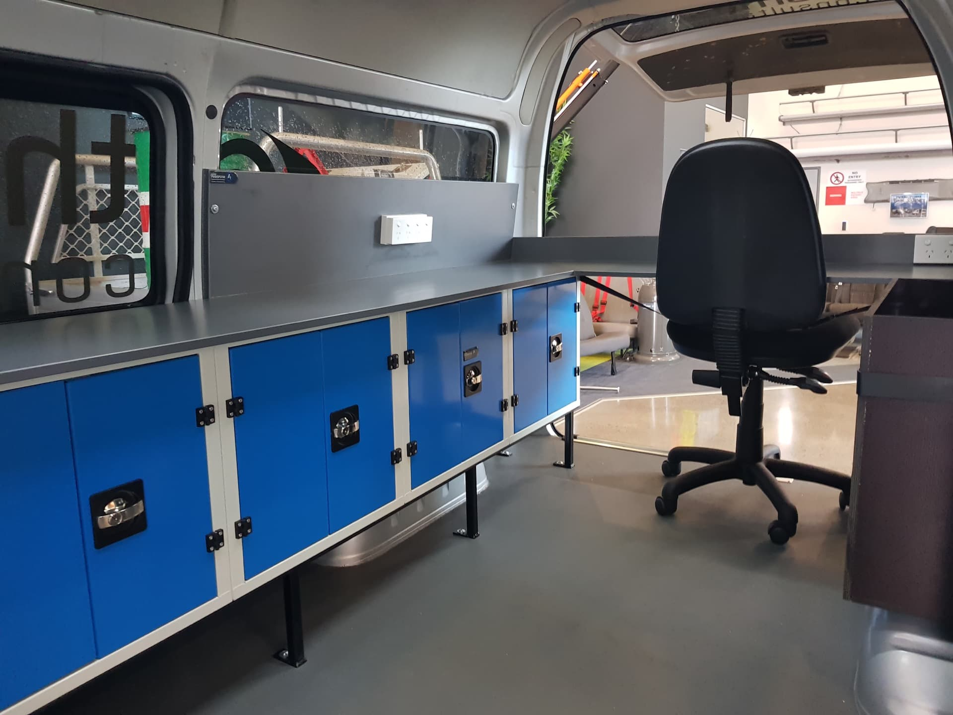 Van fitout with workbench