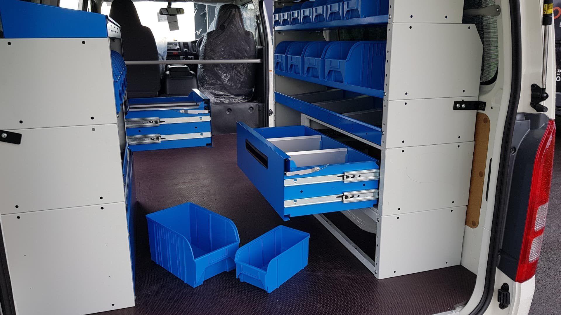 Van racking drawers