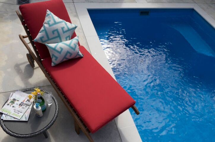 Canvas Company Outdoor Squabs by the Pool