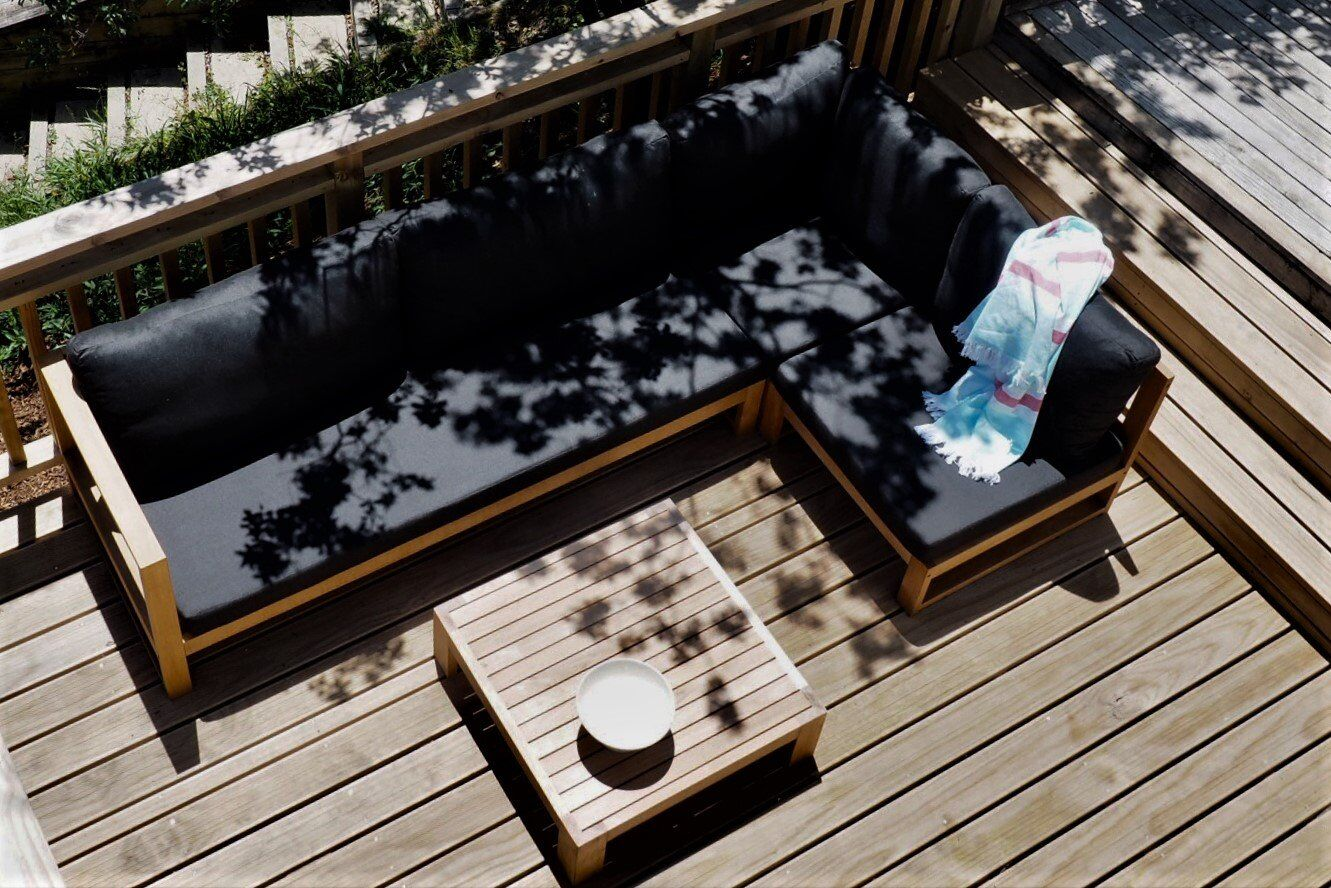 Outdoor Day Sofa with Custom Made Squabs