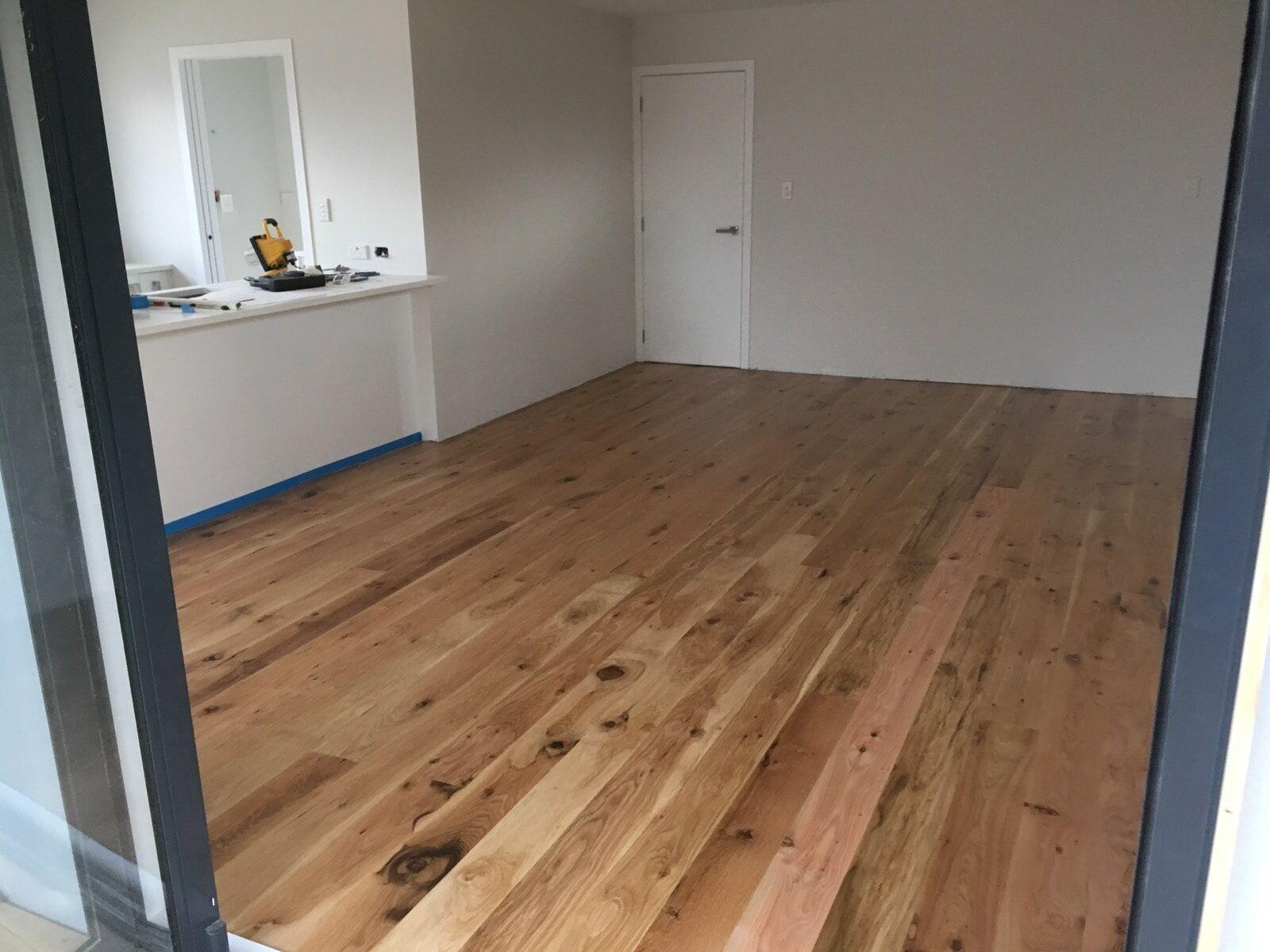 Oak floors laid by CE Construction