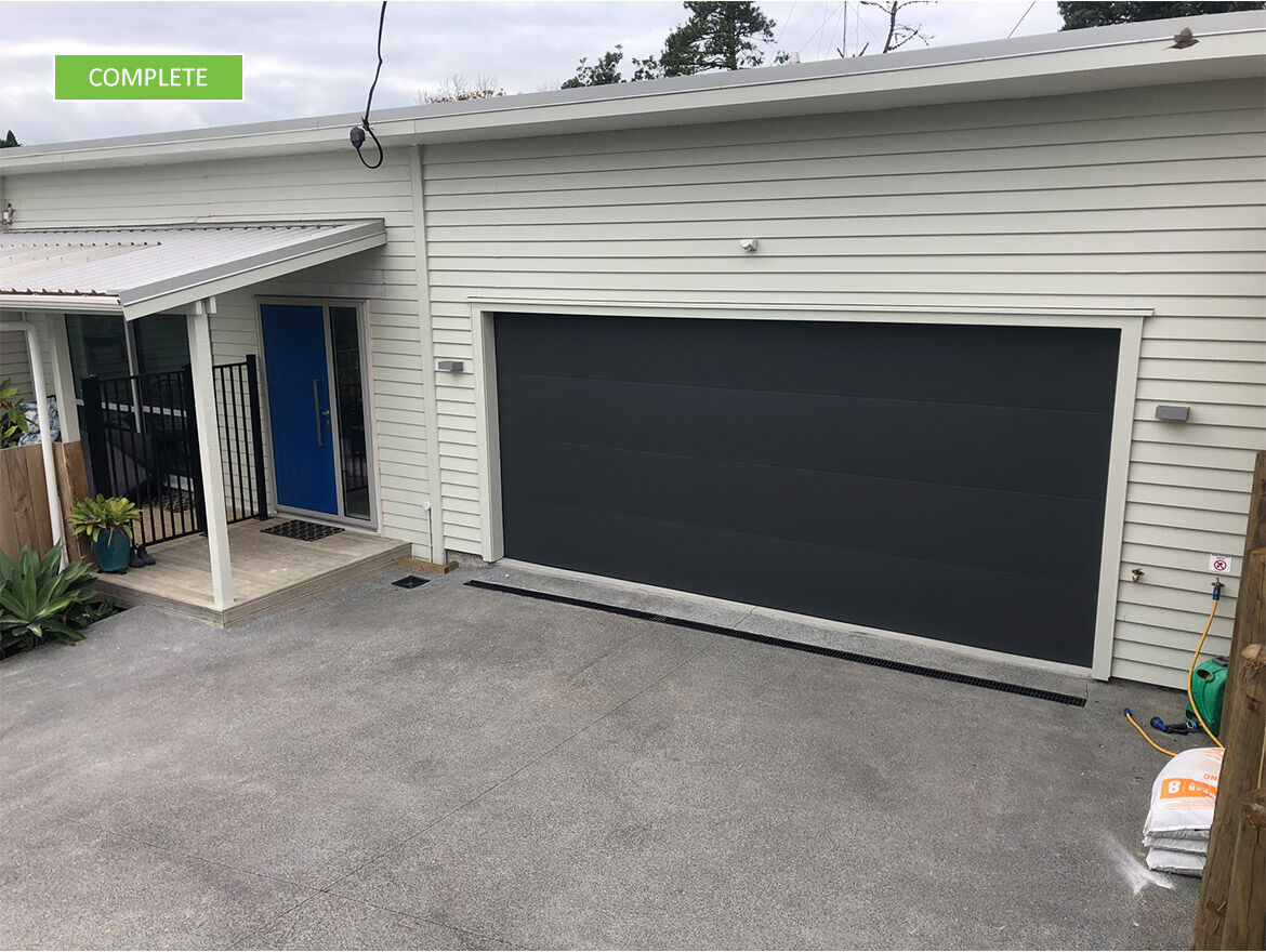 project long bay garage completed