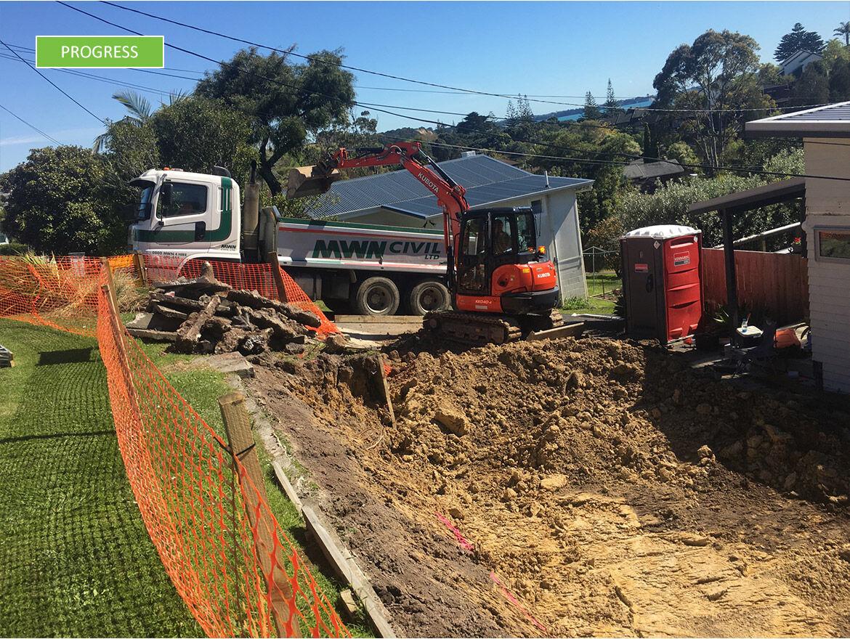 Progress - excavation underway
