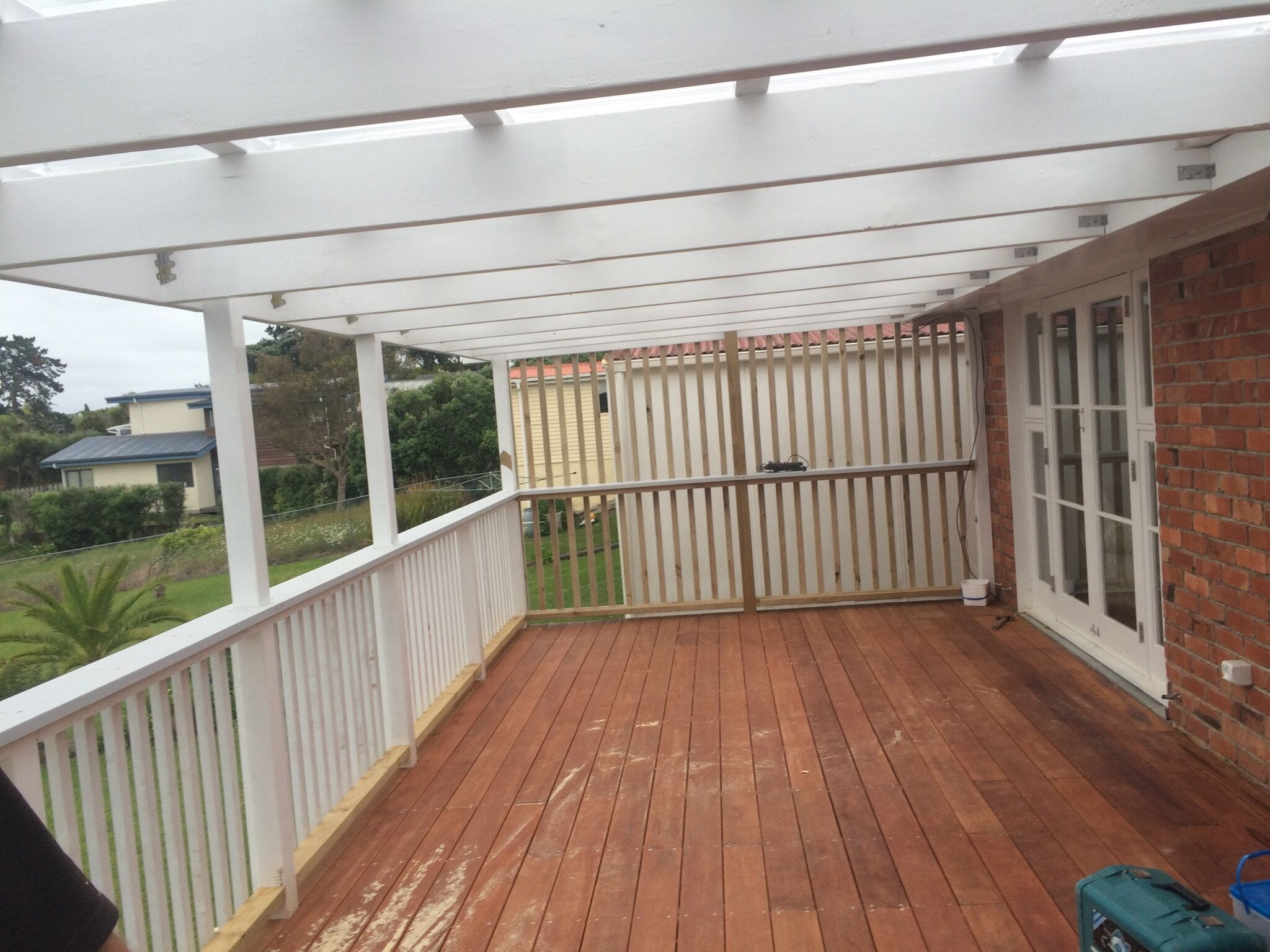 Replaced main deck