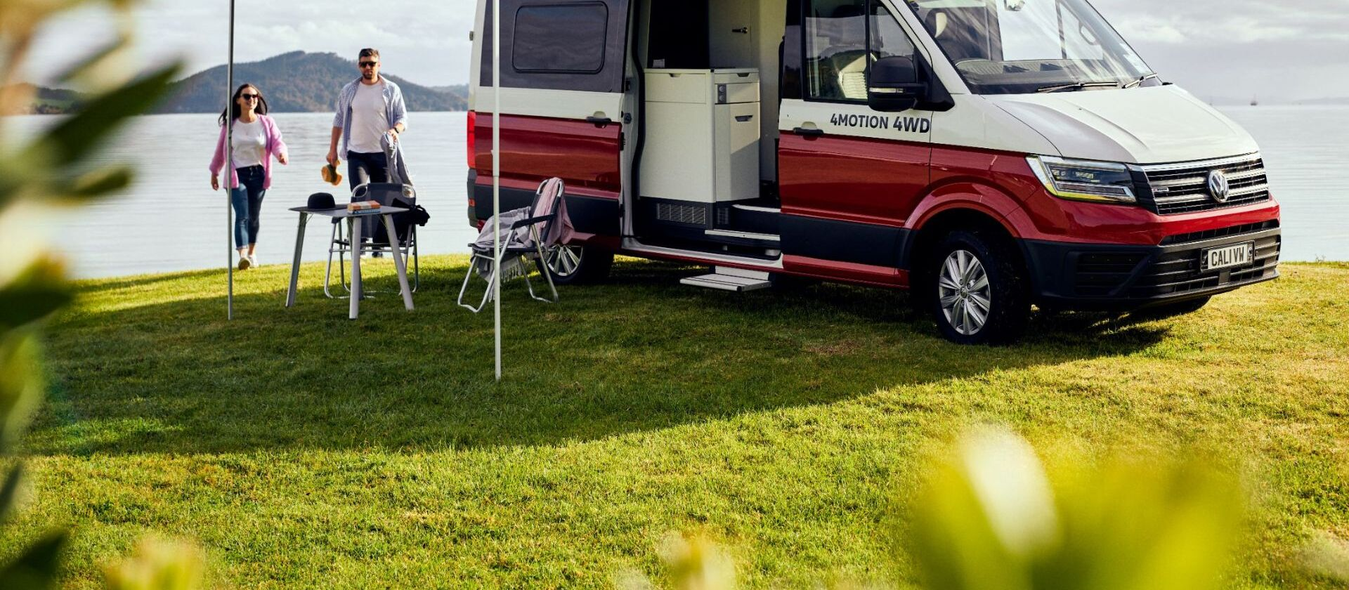 grand california set up with awning