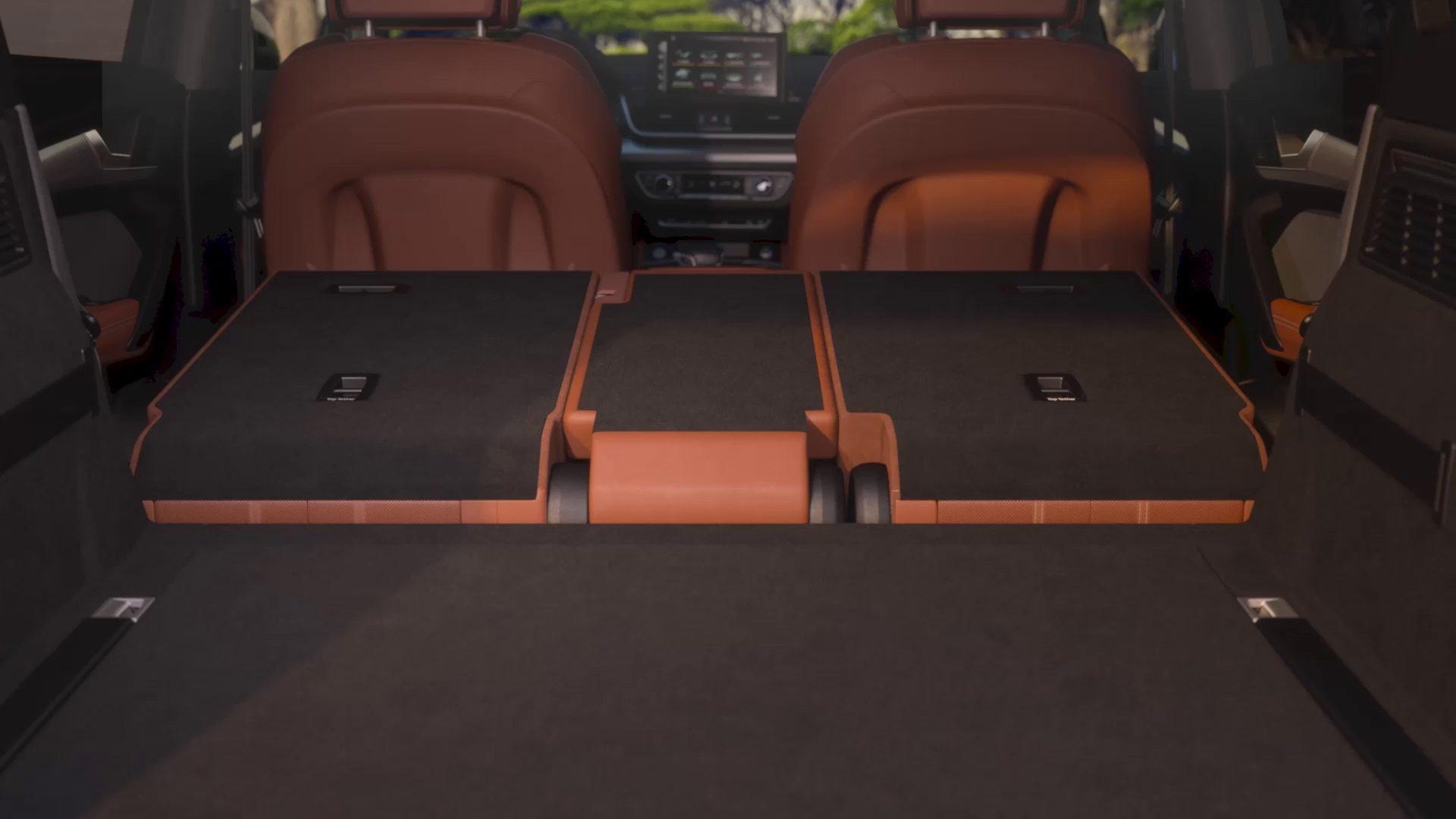 audi q fold down seats