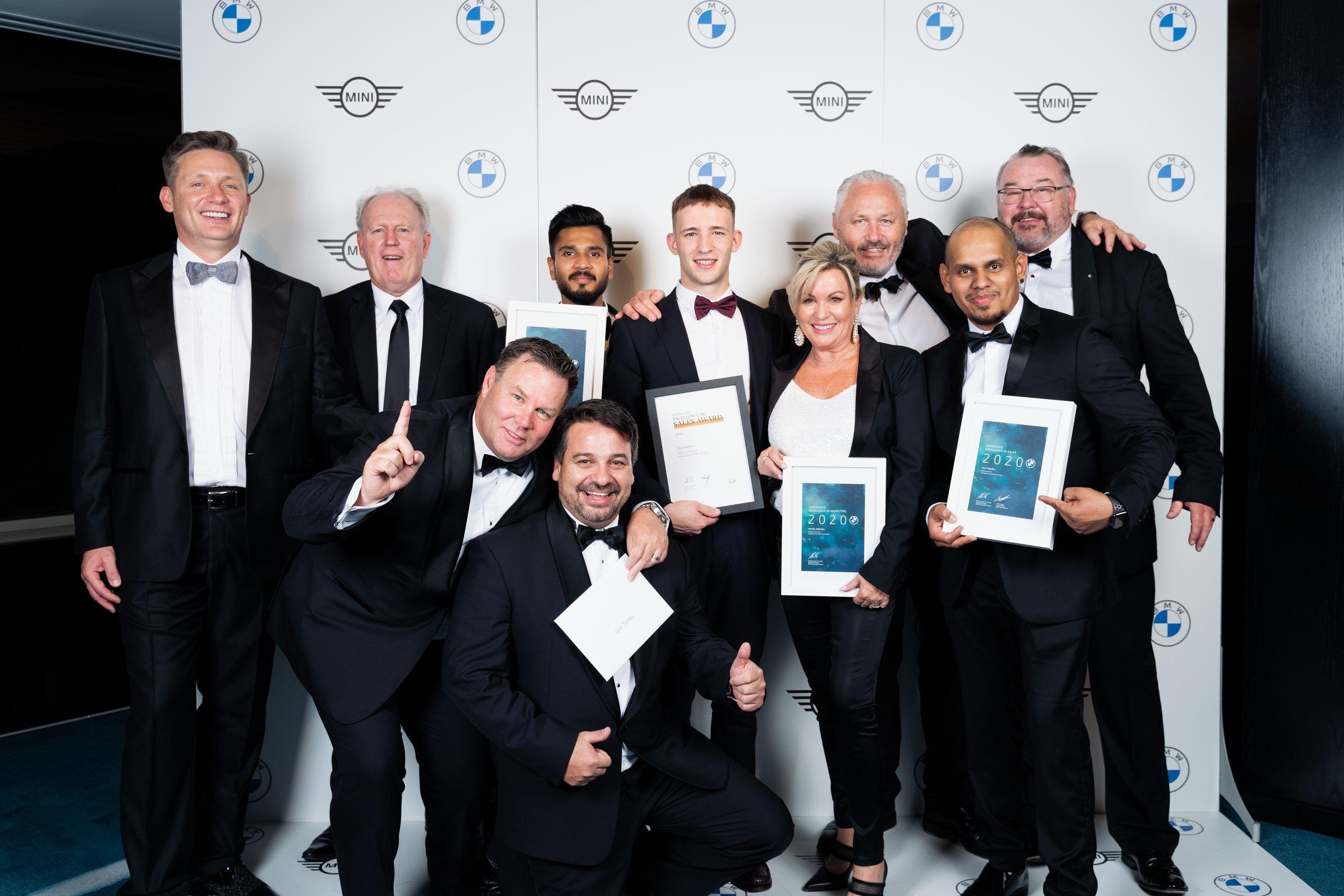 bmw mini garage dealer awards