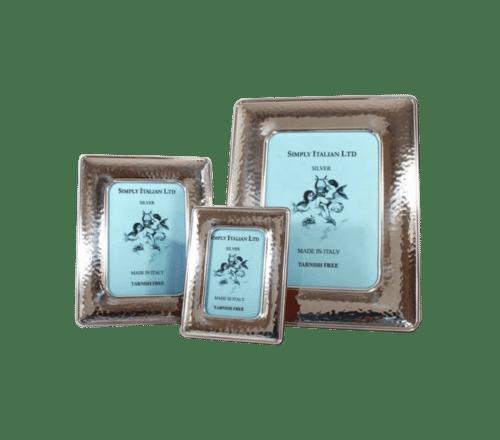 Textured Silver Italian Photo Frame