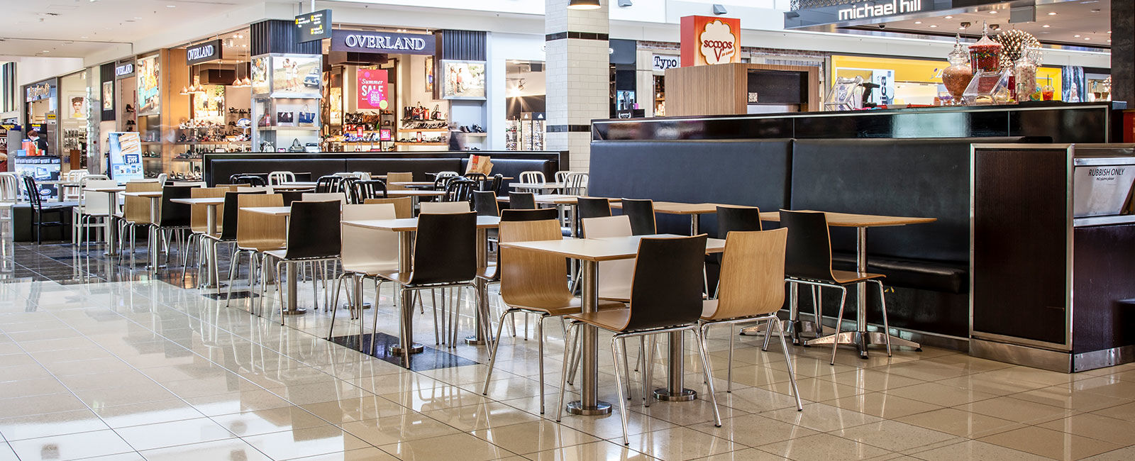 Sylvia Park Auckland Foodcourt Furniture