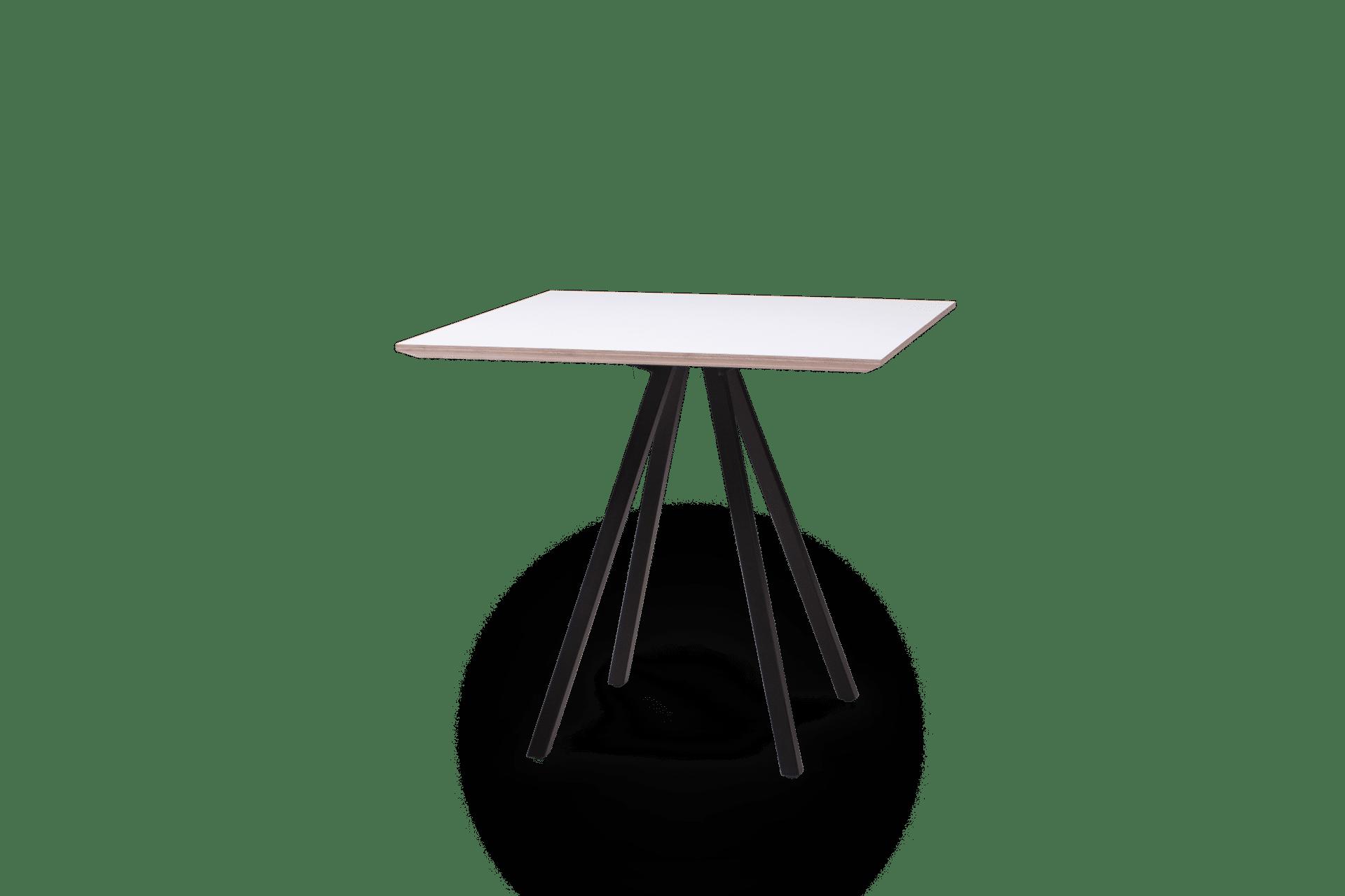 TB Poise Table Square White on Black