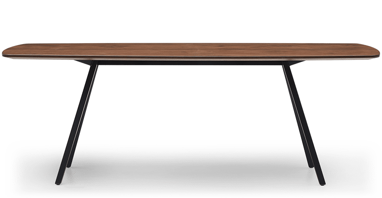 TB Poise Timber Meeting Table Smoke Side
