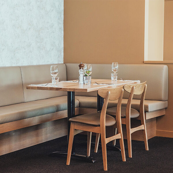 The Styx sitewide restaurant banquette