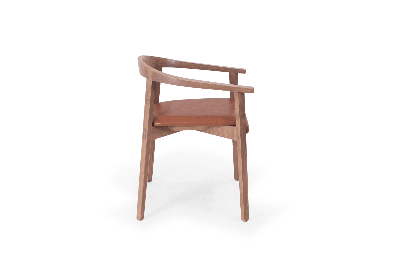 CH Cleo Armchair Stained Putty Leather Uphol