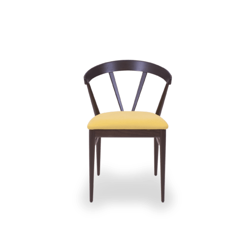 CH Ginger Chair Dark Oak Stain Green Uphol