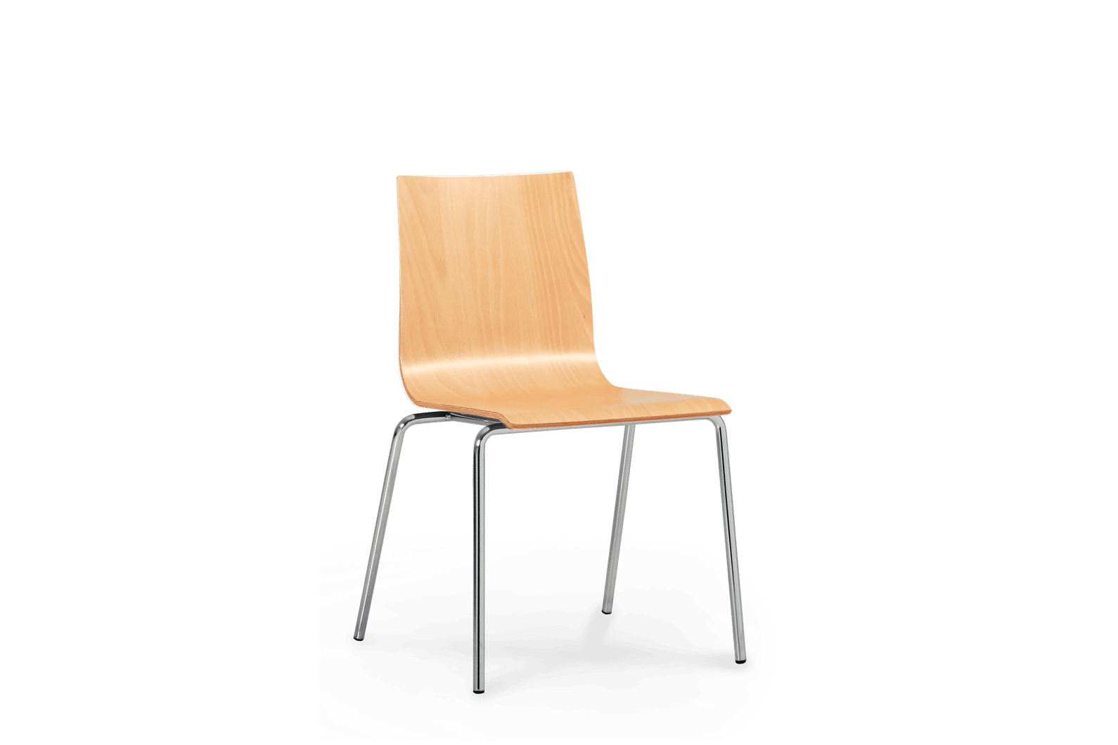 CH Met Chair Chrome Frame Ply Seat copy