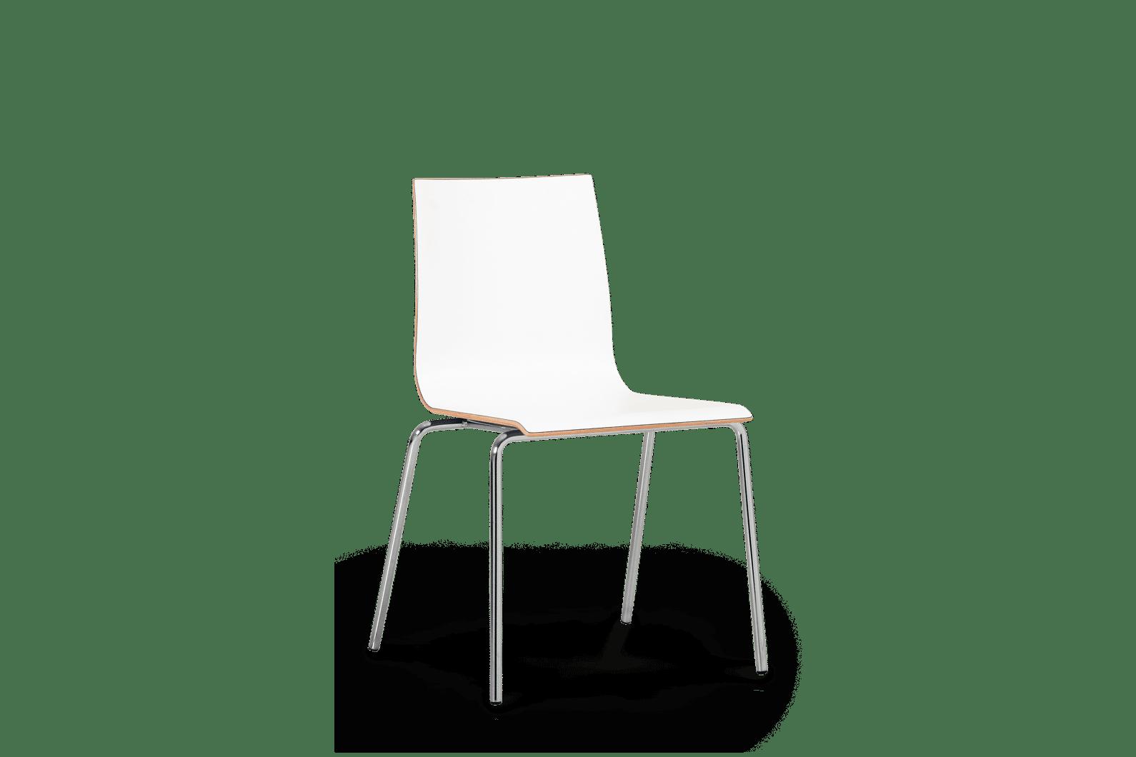 CH Met Chair Chrome Frame White Shell copy