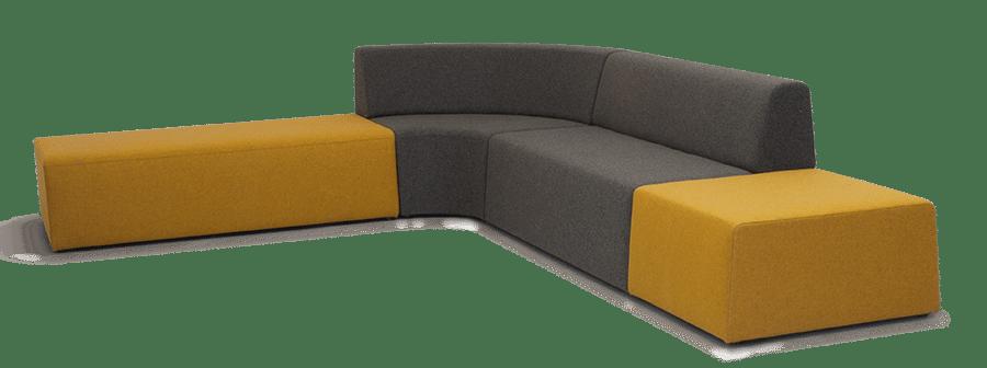 SS Pause  Piece Lounge Ottoman Corrner
