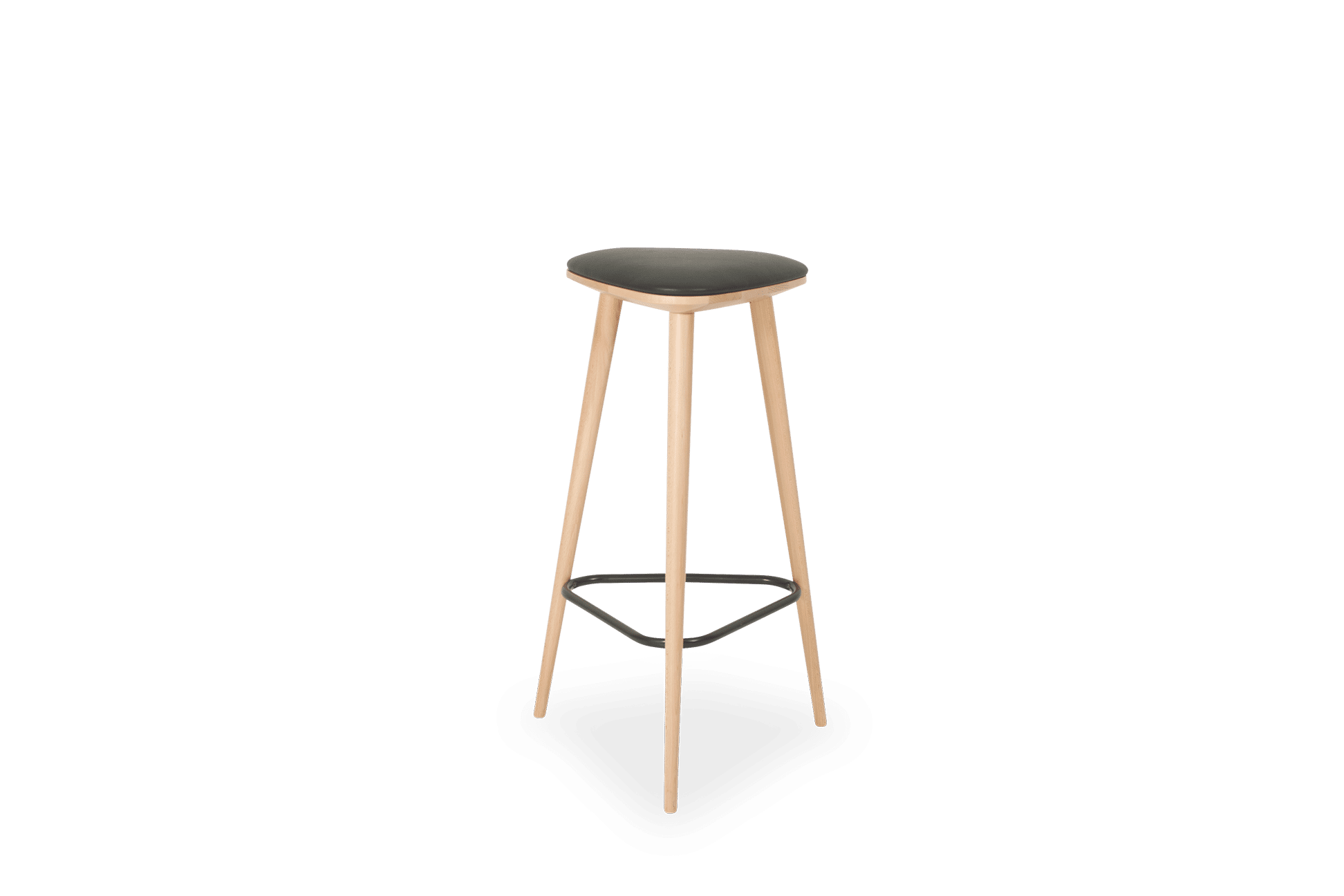 ST Apex Stool Stained Clear Black ring upholstered