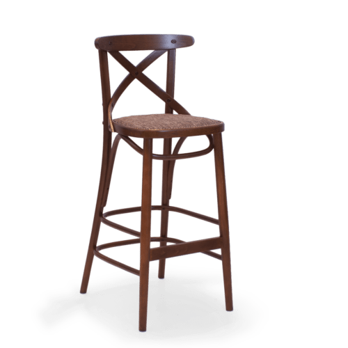 ST Crossback Stool Stained Maple Uphol  copy