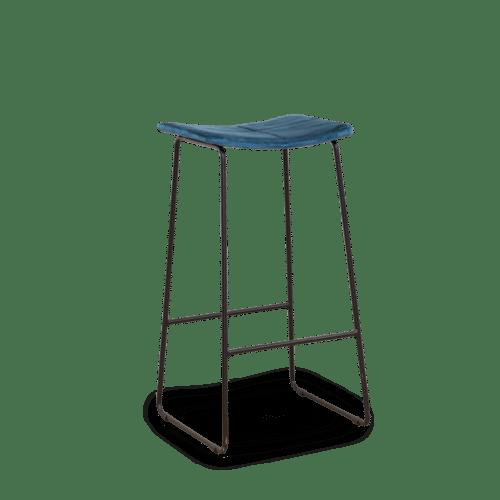 ST Ease Stool black frame blue uphol