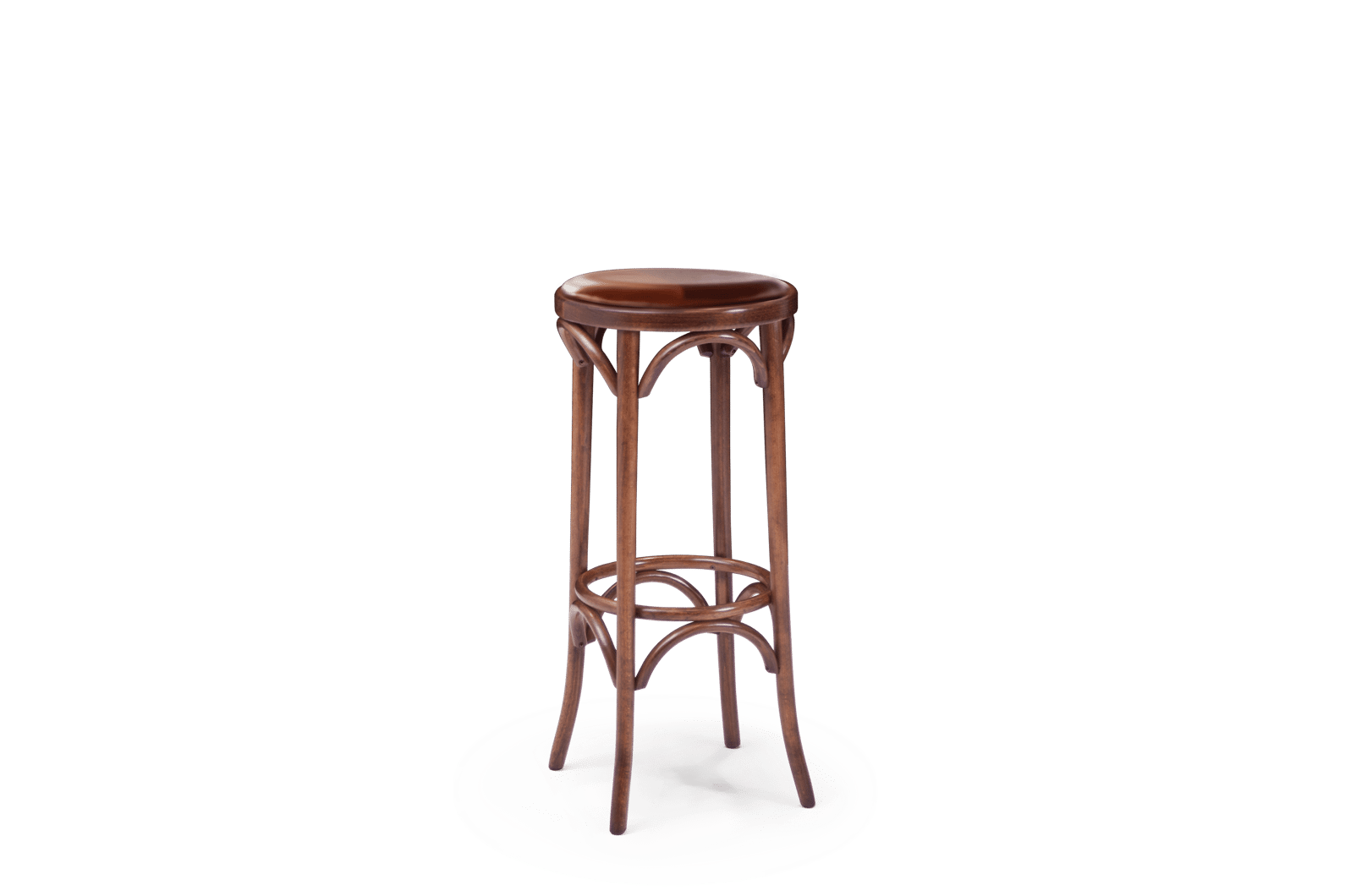 ST Hoop Stool Stained Wal Uphol