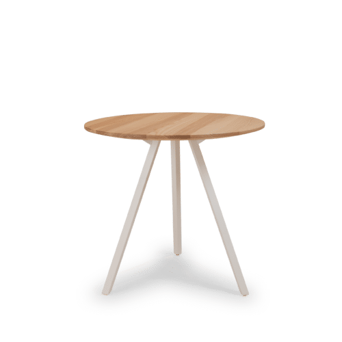 TB Poise timber table round clear
