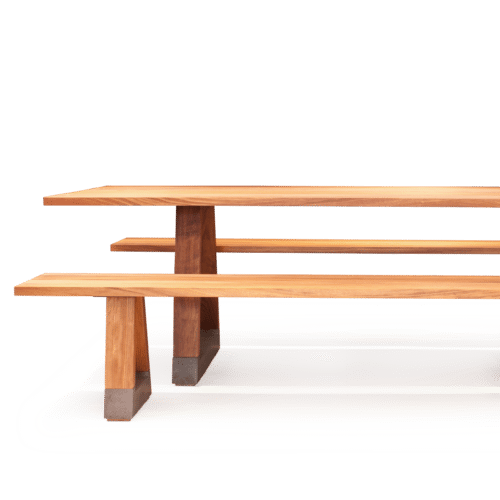 TB Slab Table Outdoor with Bench
