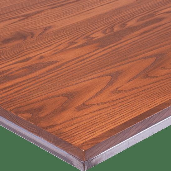 TT Fero Table Top Solid Timber Steel Ege Top Pedestal Table Cafe Table Rustic hospo