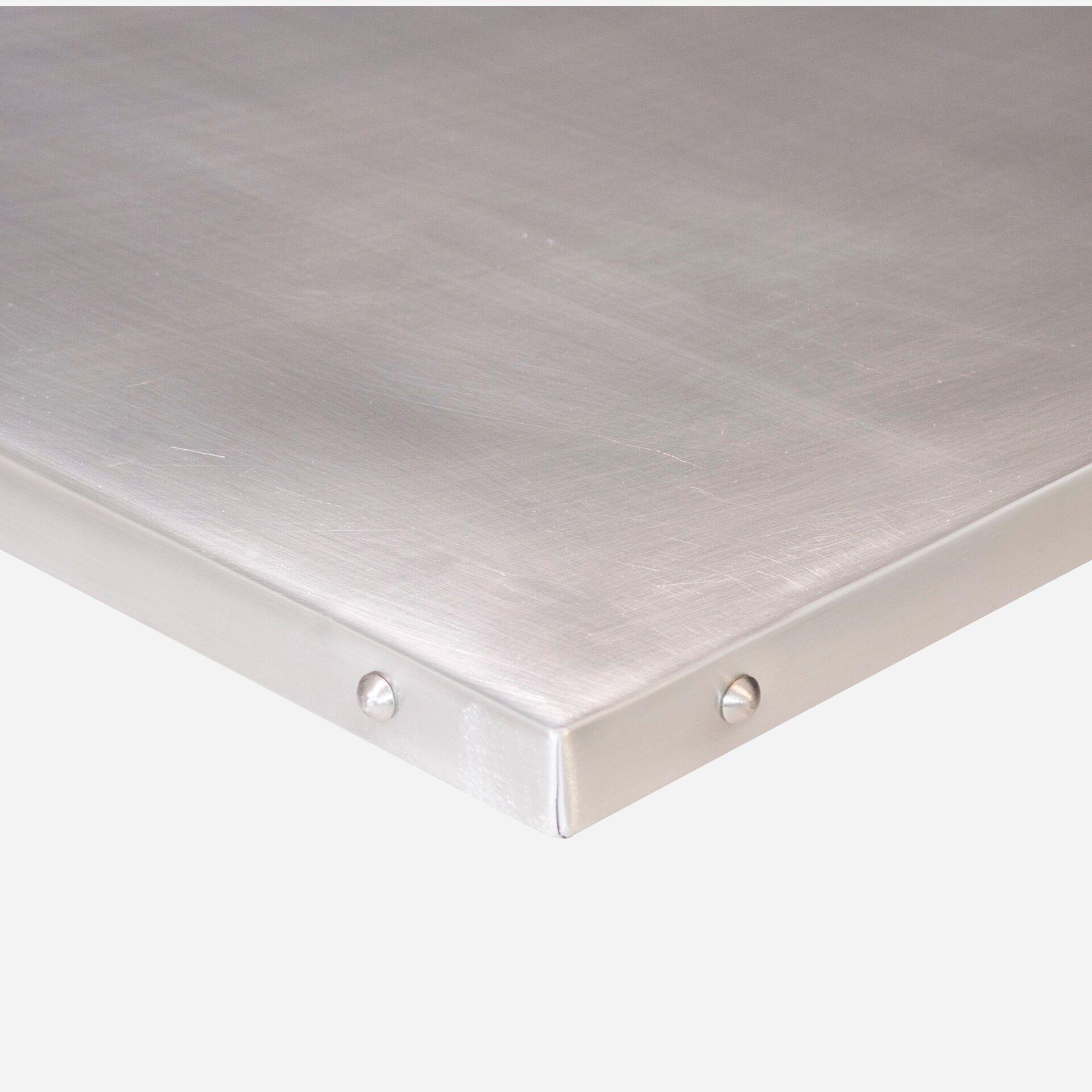 TT Patina Table Top Natural Zinc with tacked edge copy