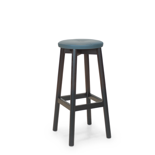 ST Mode Stool painted black uphol