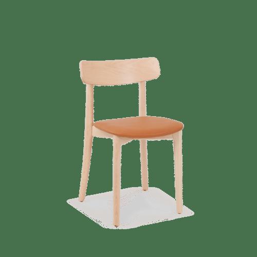CH Babar Chair clear tan uphol