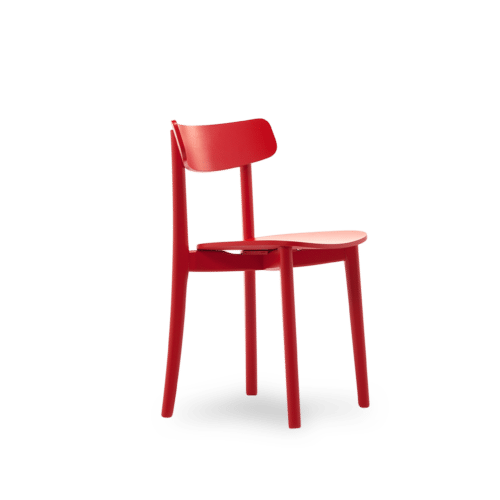 CH Babar Chair painted red