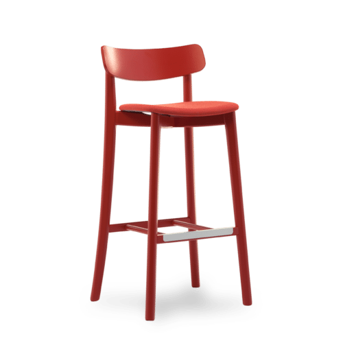 ST Babar Stool painted red uphol