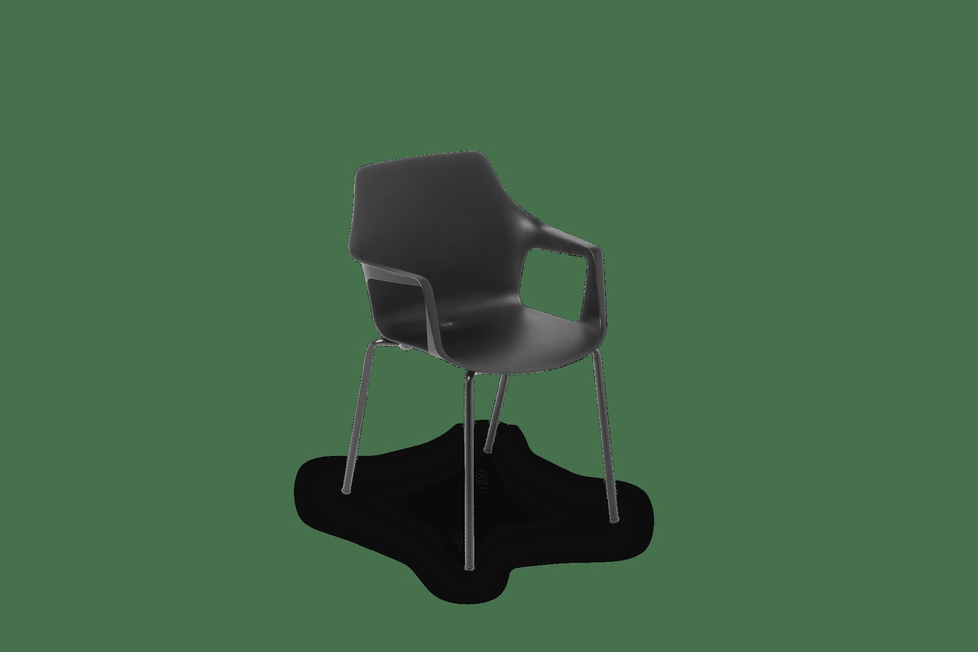 CH Vesper Armchair black black frame
