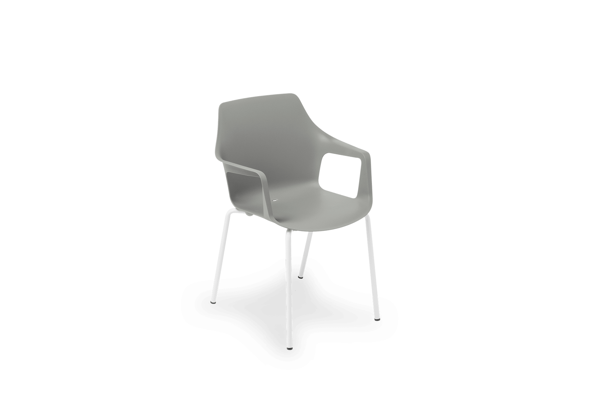 CH Vesper Armchair grey on white